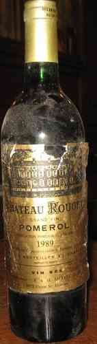 Chateau Rouget Grand Vin de Pomerol 1989